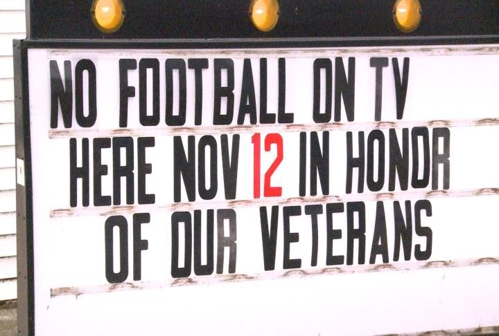 Sign outside Stubby's Tavern in Quincy.