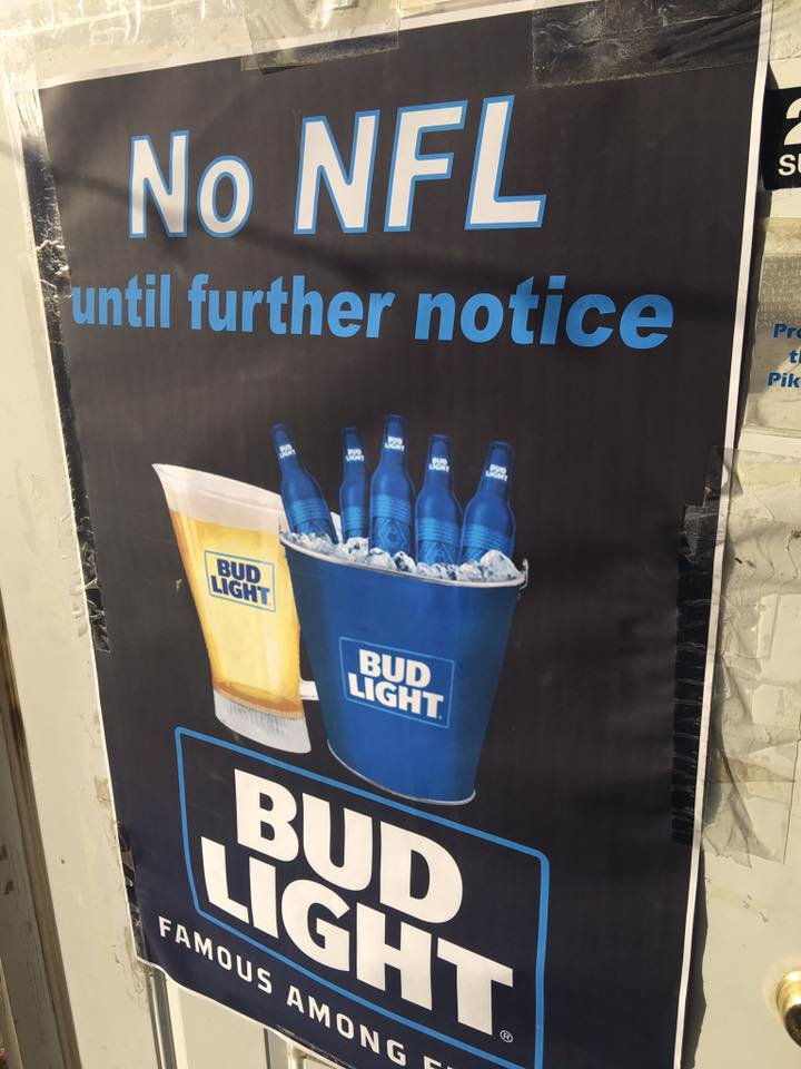 Sign outside Copperhead Taverns in New Canton Illinois. (Photo by Dale Garriga)