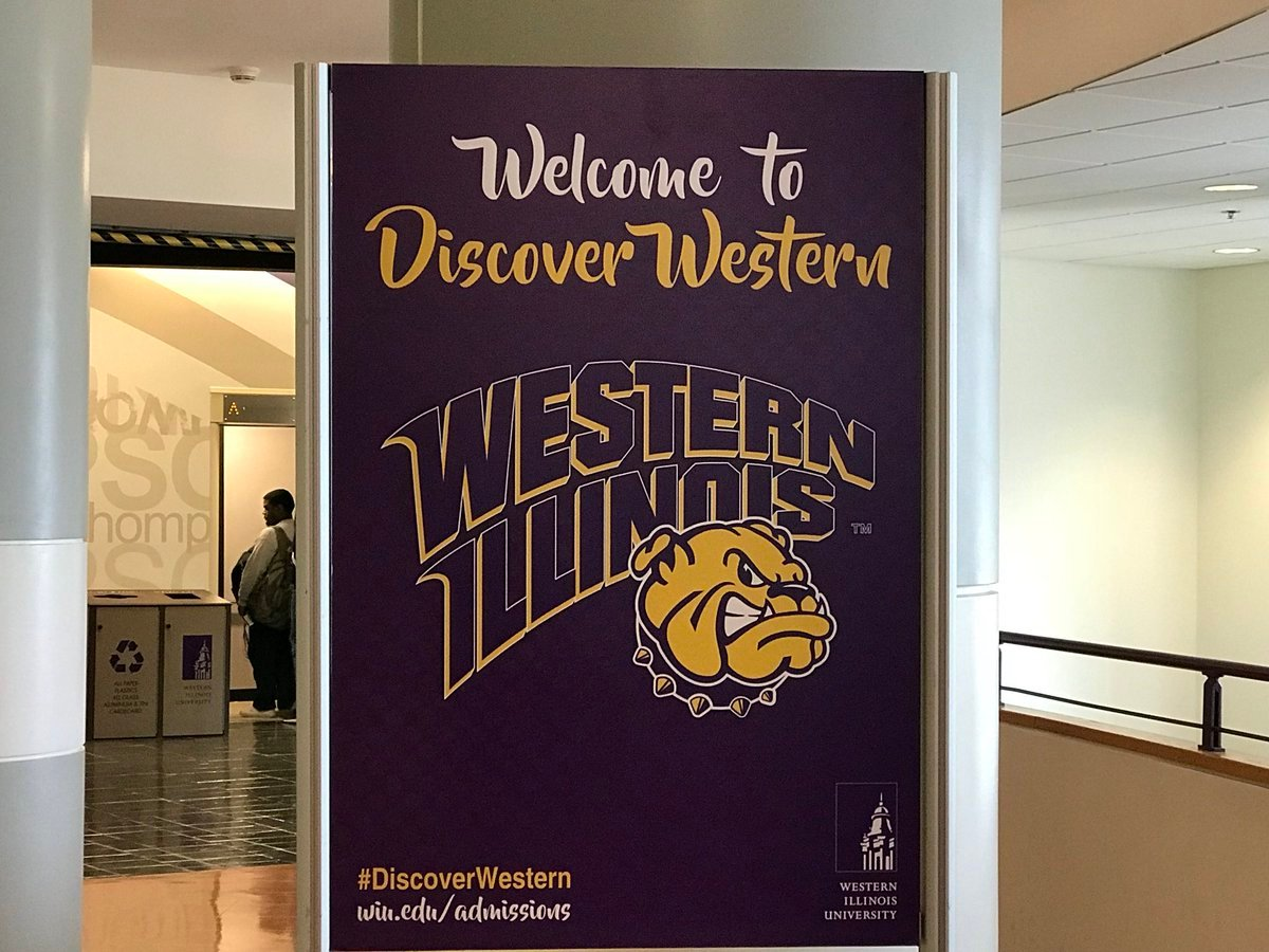 Discover Western sign inside of Thompson Hall