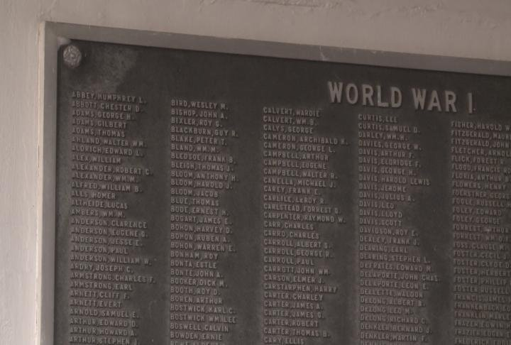 More than 5,000 names are featured on five bronze plaques located on the memorial.