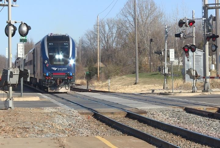 Amtrak trains were busy on Wednesday.