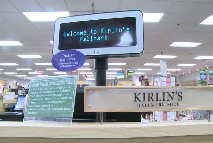 The cash register at Kirlin's Hallmark