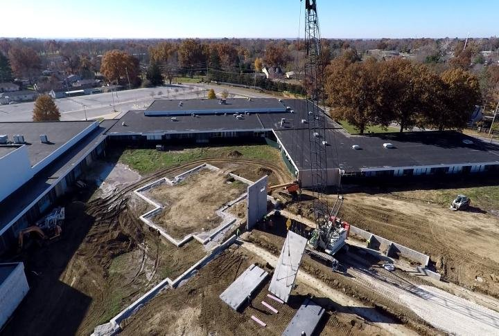 Aerial view of the installation via the WGEM News Drone.