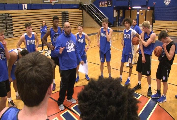 Quincy High School opens the season on Thanksgiving night against Providence St. Mel.