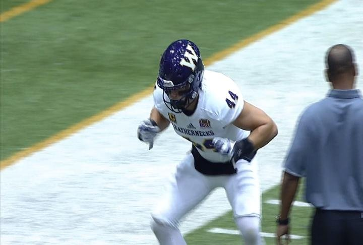 WIU linebacker Brett Taylor has been named MVFC Defensive Player of the Year.