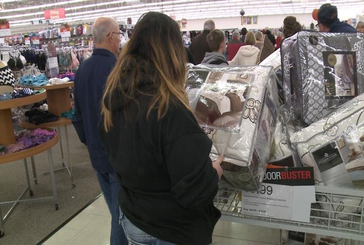Hundreds of customers came out on Thanksgiving day looking for doorbuster deals.