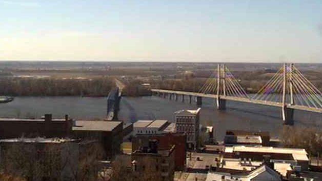 View of Quincy on Friday via the WGEM Skycam.