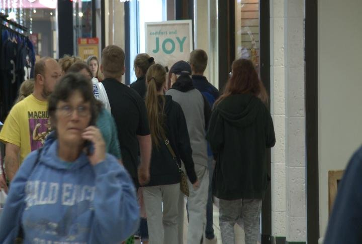 Shoppers filled the Quincy Mall on Friday.