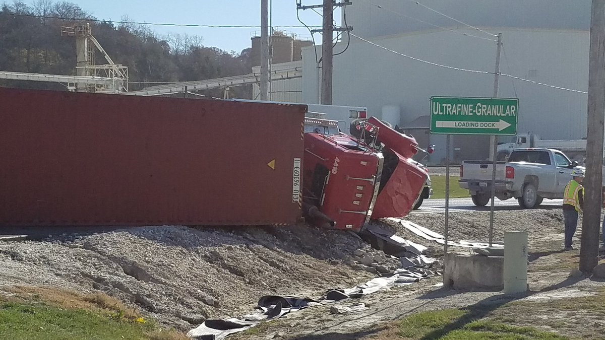 A semi rolled over in Quincy Monday morning.