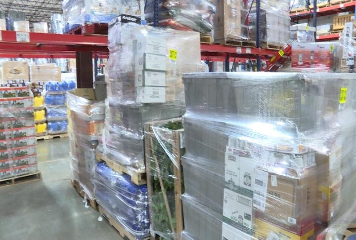 Pallets of items ready to ship out