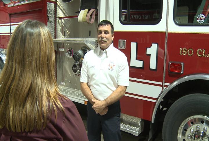Hannibal Assistant Fire Chief Mark VanWinkle talks with WGEM's Kaylee Pfeiferling regarding renovations at the vacant St. Elizabeth Hospital.