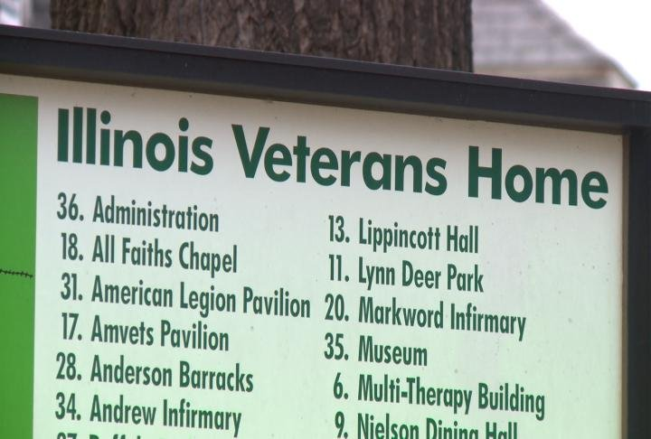 Sign at the Illinois Veterans' Home.