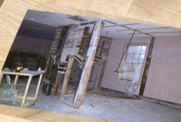 Picture shows off what the apartment used to look like during renovations.