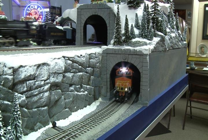 Train display at Kibbe Museum in Carthage.