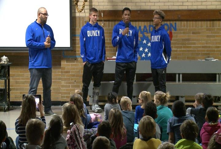 Members of the team spoke with students on Friday.