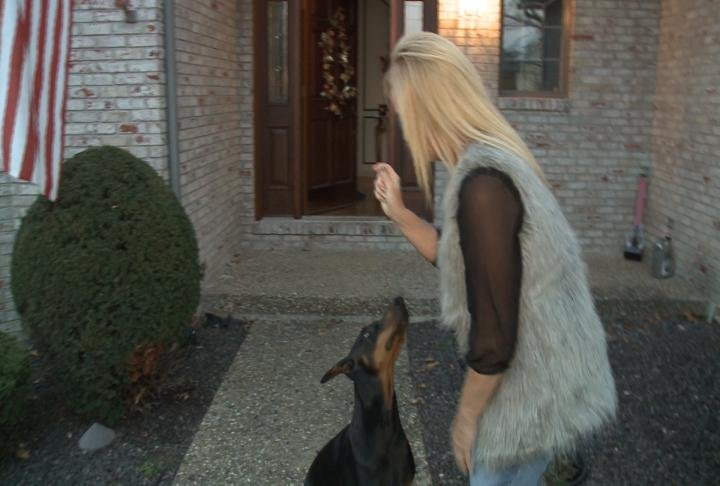 Quincy homeowner says her dog woke her up to alert her that something was going on outside.