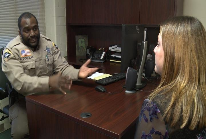 Sheriff's Deputy Kevin Douglas talks with WGEM Kaylee Pfeiferling about burglaries during the holidays.