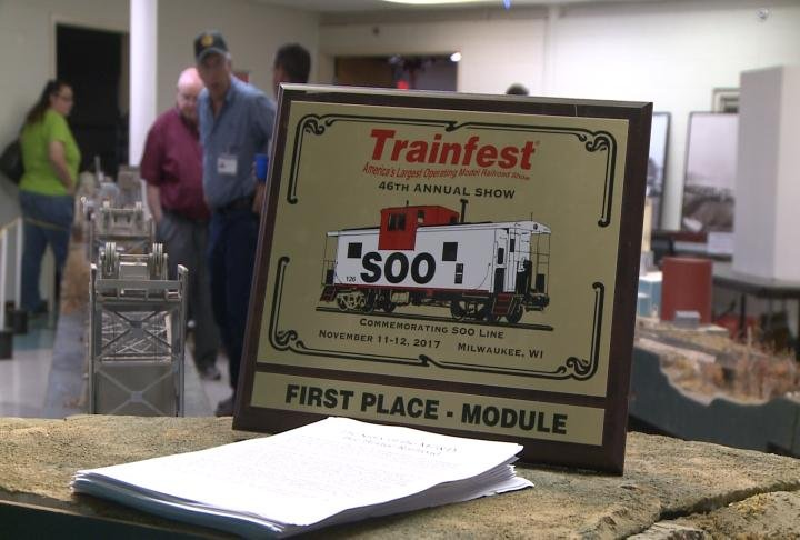 First place train module is on display at the Train Club's annual open house.