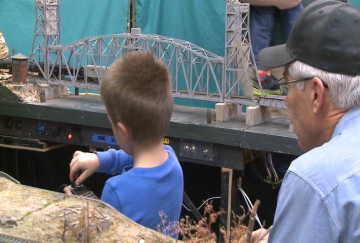 Organizers said this is a great event for all ages. A kids learns how to control one of the trains.