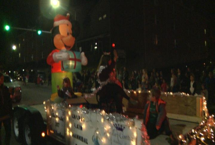 Hundreds lined the streets in downtown Hannibal.