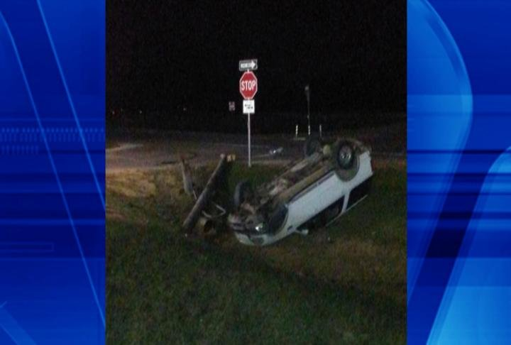 Rollover crash (Photo by: Brandon Hawk)