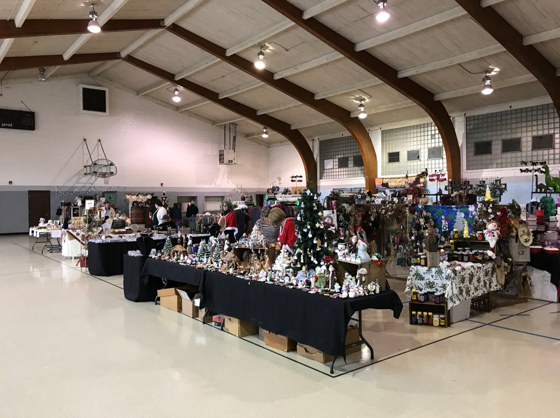 The gym has been turned into a venue for vendors and other events