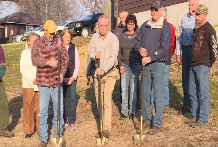 Retreat House board members break ground on the expansion