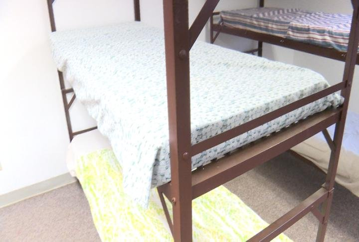 The current bunk beds in the bunk house