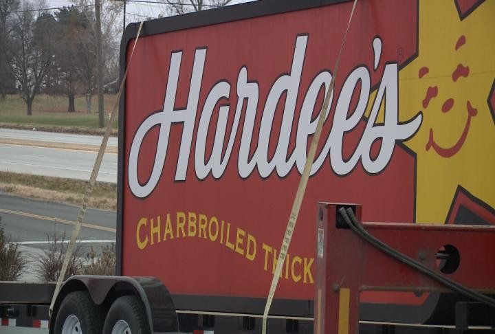 Sign from one of the locations in Hannibal taken down Monday morning.