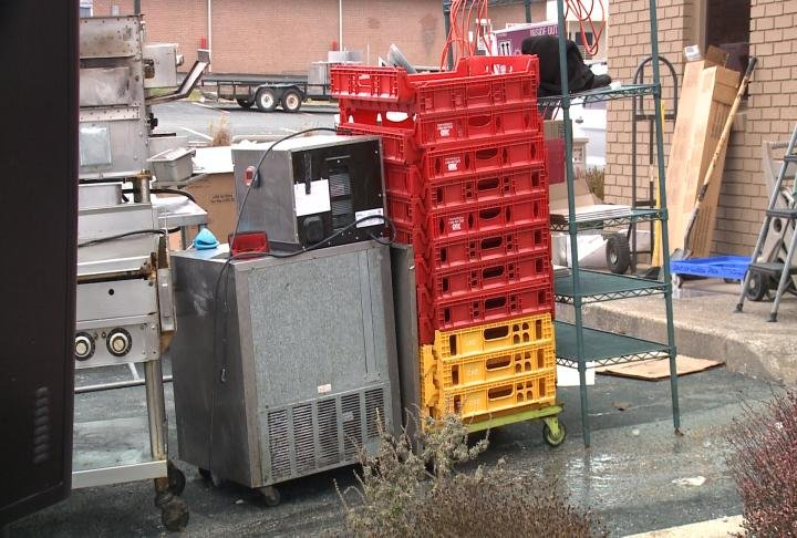 Equipment outside one of the locations.