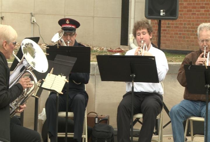 The Salvation Army Band performs at the event.