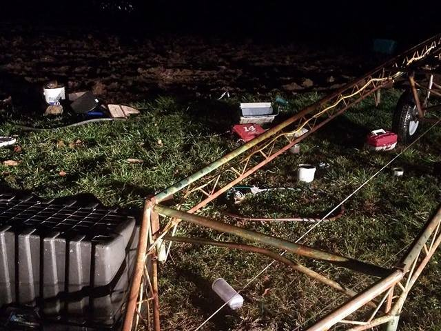 Damage in Clark County following strong storms in the area Monday night. (Submitted photo)