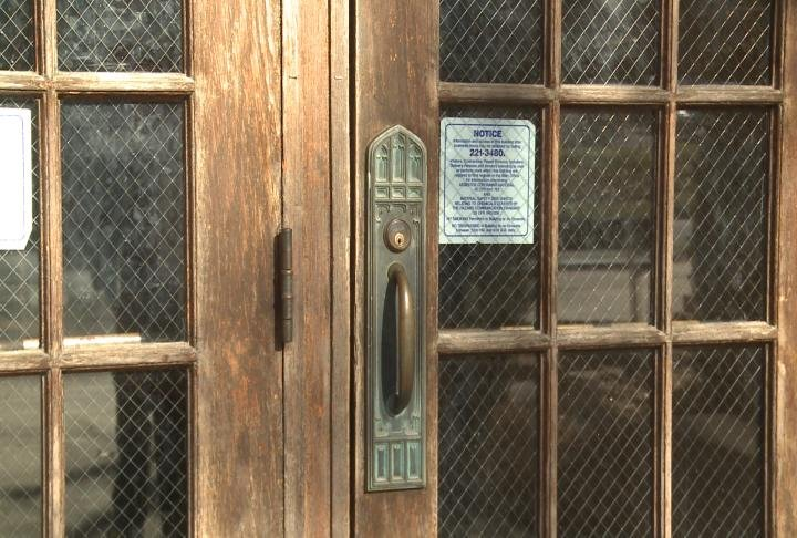 The exterior doors are also in need of replacement.