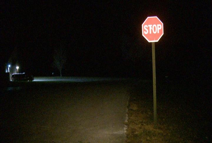 Crews want to install a stop sign at 30th and Huckleberry Park Road.