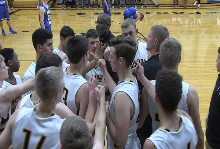Monroe City erased a sluggish start to defeat Mark Twain and advance to its own tournament title game.