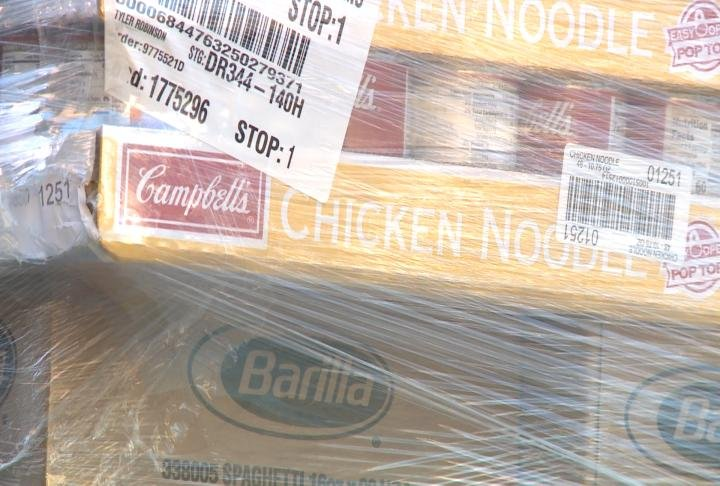 Food pantries were able to receive donations in time for the holidays.
