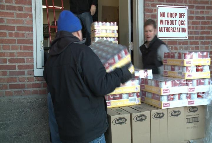 Catholic Charities in Quincy was one of the food pantries receive donations.