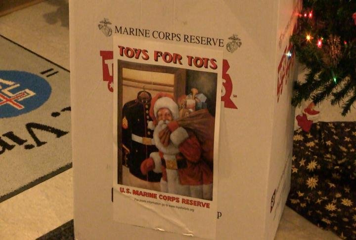 St. Vincent's Home raised money for Toys for Tots.
