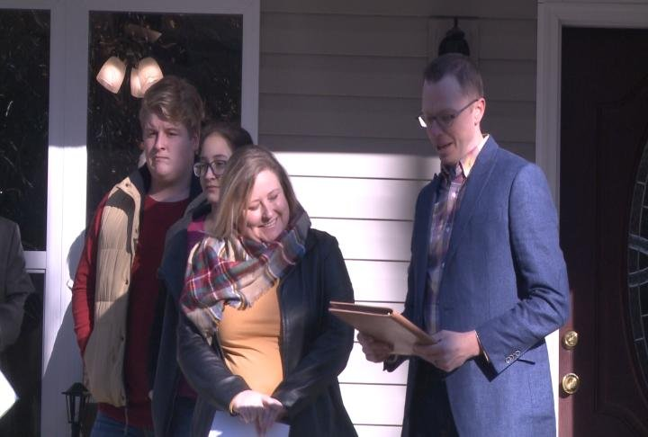 The house dedication took place on Saturday.