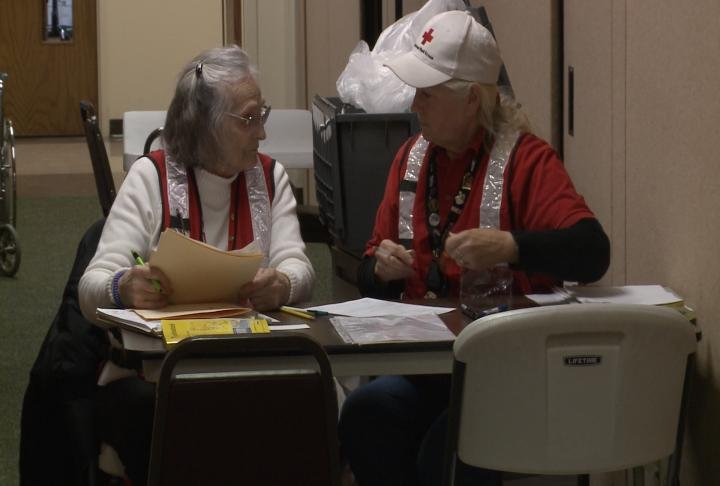 Salvation Army volunteers at the shelter