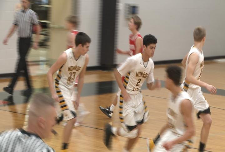 CE Talton and Monroe City advanced to the Clopton Tournament semifinals beating Warrenton's JV 63-50.