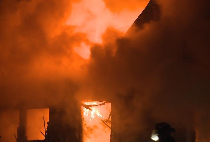 Flames spread through a Warsaw, Illinois home. Fire officials consider it a total loss.