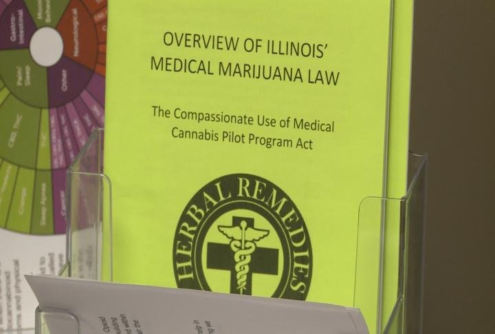 Pamphlet for the Illinois Medical Marijuana Pilot Program.