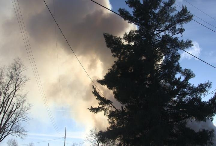 Smoke coming from the home could be seen from miles away.