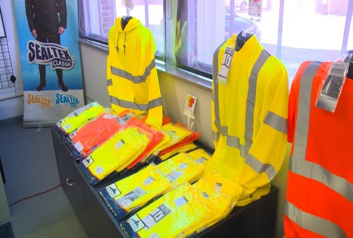 A variety of shirts and sizes to help when working in different weather conditions.