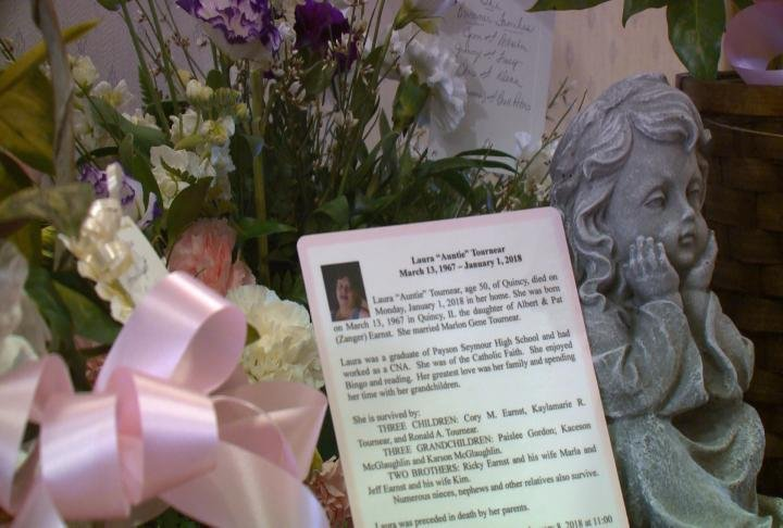 Laura Tournear was laid to rest Monday morning in Quincy.