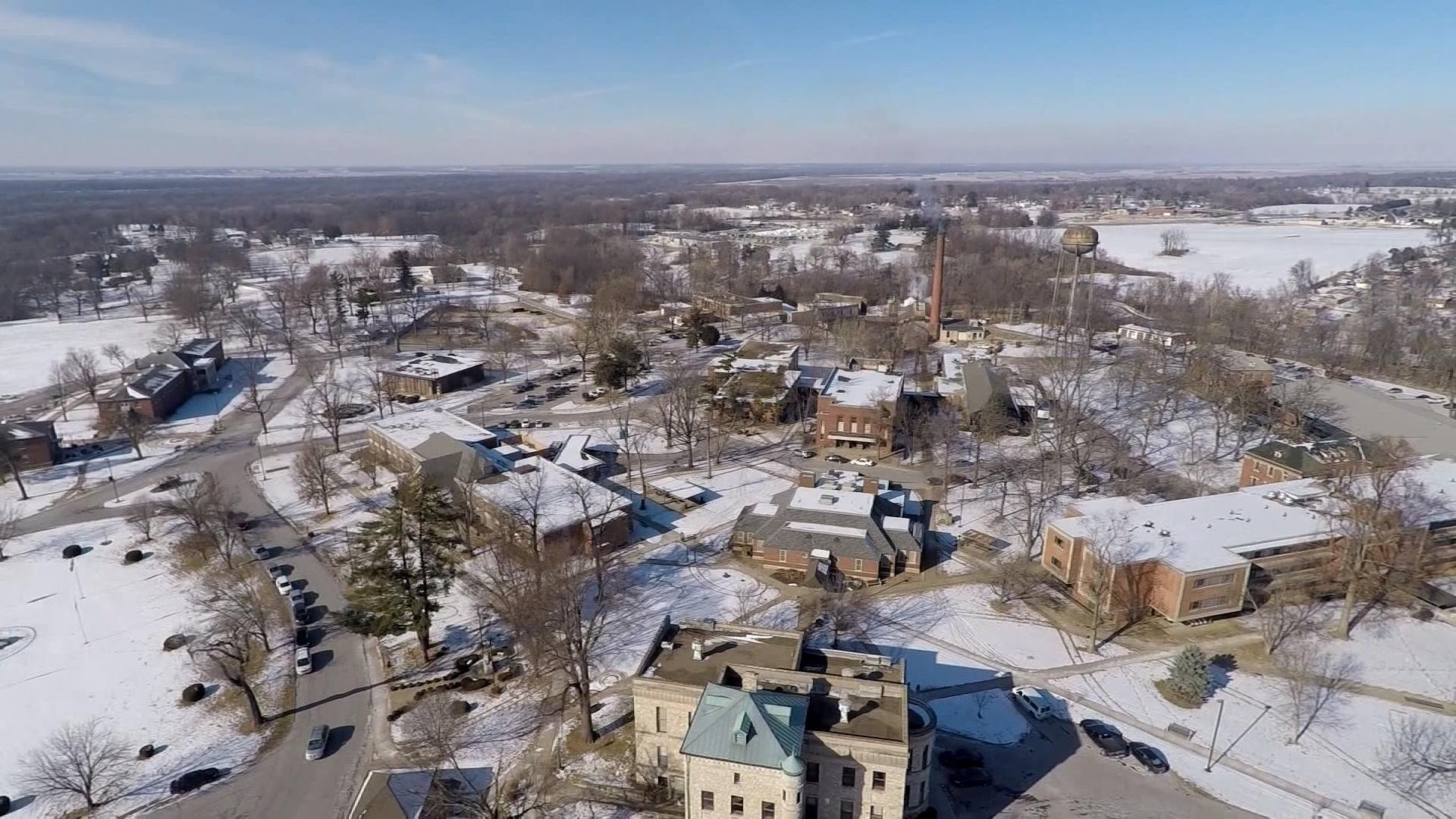 An aerial view from the WGEM News Drone of the Illinois Veterans' Home grounds in Quincy.