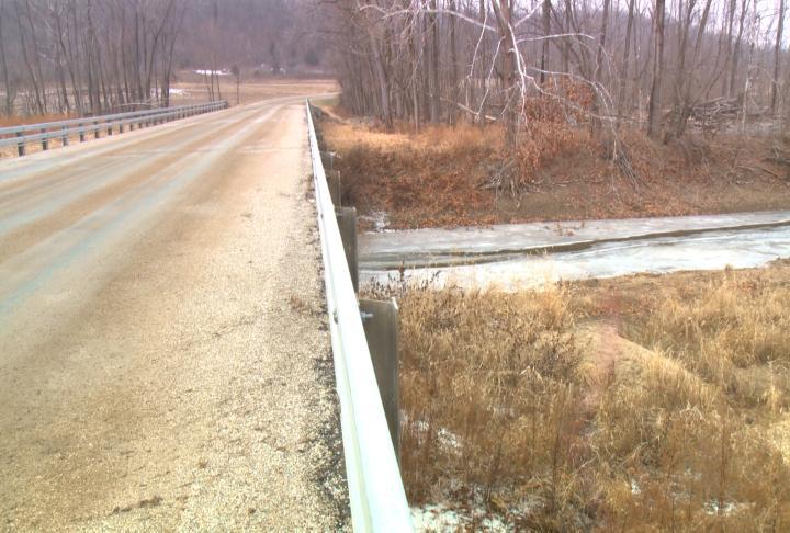 The bridge at the Valley City Levee