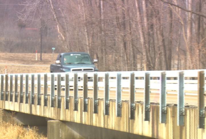 A car on the bridge