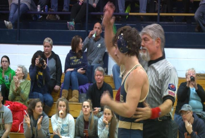 QND's Zach Haley celebrated Senior Night with career wins No. 100 and 101.